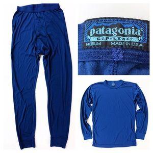 💛 Patagonia Capilene Set Shirt Pants Base Layer